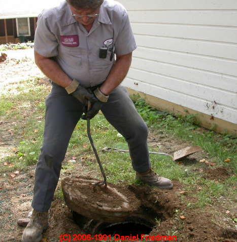 concrete septic tank hook up